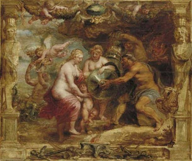 'Thetis receiving the arms of Achilles from Vulcanus' (1630-1635) by Peter Paul Rubens.