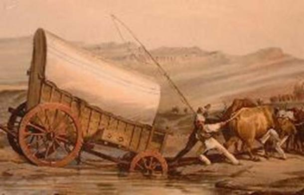 They hitched their ox-wagons and trekked (Public Domain)