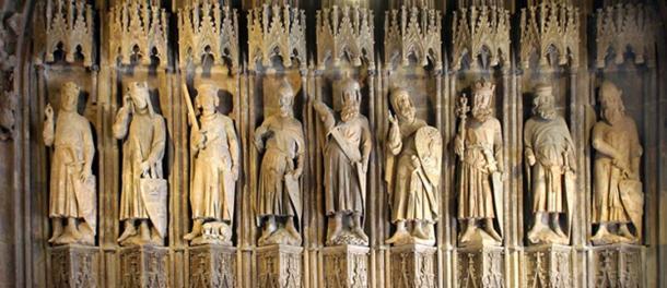"""Thirteenth century carving """"Nine Good Heroes."""""""