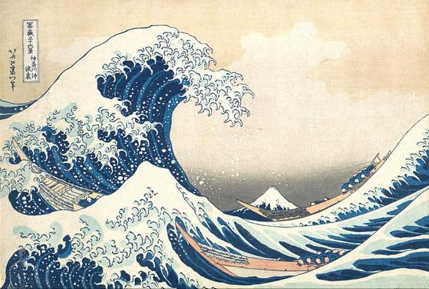 """Thirty-six Views of Mount Fuji - The Great Wave off Kanagawa""."