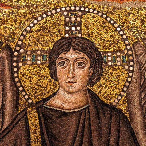 This 6th-century mosaic detail from the Basilica of San Vitale in Ravenna depicts Christ with a halo of mother of pearl on a precious gold background. (Lawrence OP/CC BY NC ND 2.0)