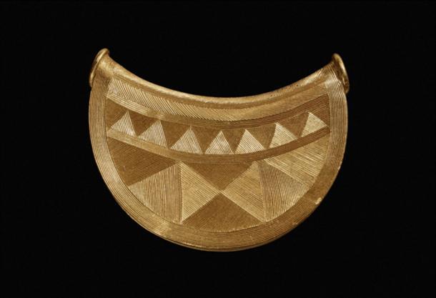 This Bronze Age gold bulla was found in Shropshire, UK. (British Museum Portable Antiquities Scheme)