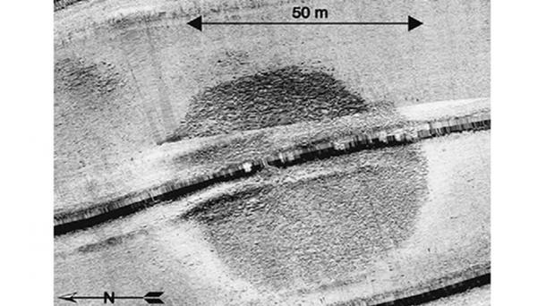 This circular structure was first detected in a sonar survey of part of the sea in the summer of 2003. (Credit: Shmuel Marco)