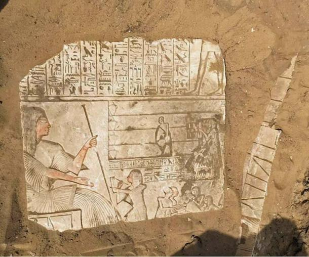 This image is still being uncovered. (Egyptian Ministry of Antiquities)