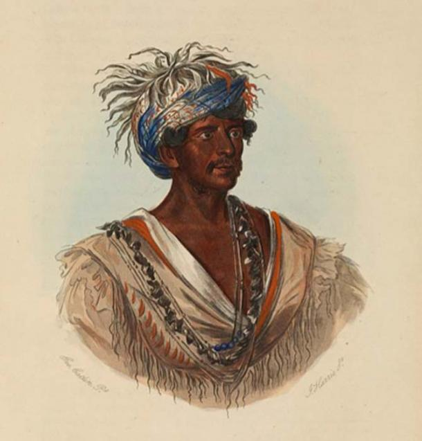 This is an illustration of a Cherokee war chief. Cherokee Indians had both war chiefs and peace chiefs. (Wellcome Images/CC BY 4.0)