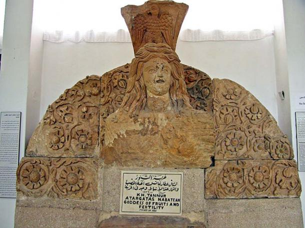 """This statue comes from the Nabatean temple at Khirbet Tannur. Atargatis, the """"Syrian Goddess"""" (Lucian, De Syria Dea) was a vegetation goddess. (CC BY-SA 2.0)"""