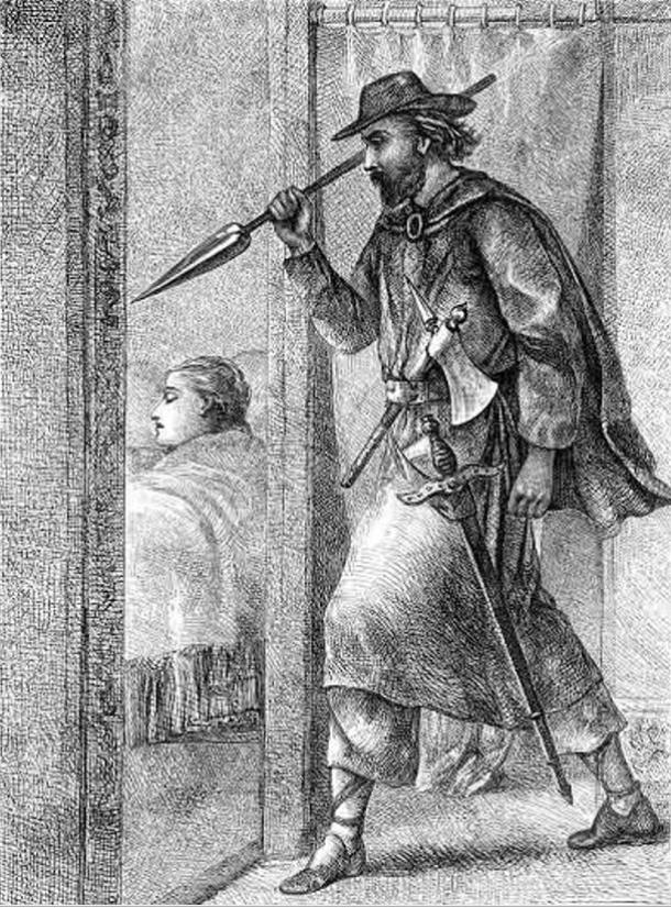 Thorgrim's Slaying, from Gísla saga. 1866.