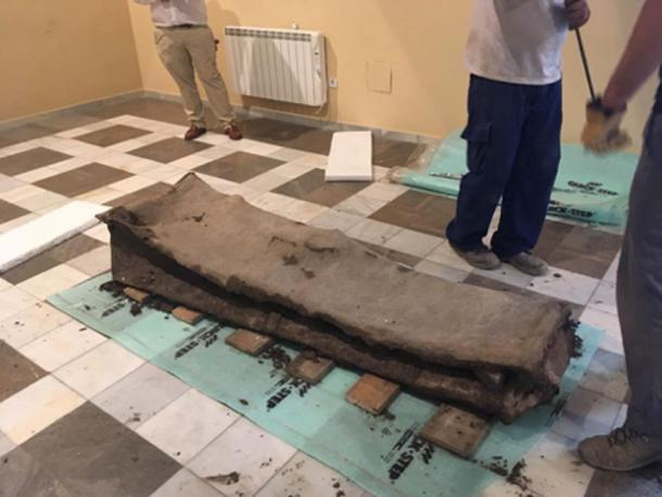 Though it may not look very fancy today, the lead sarcophagus would have been a luxury coffin. (The History Blog)