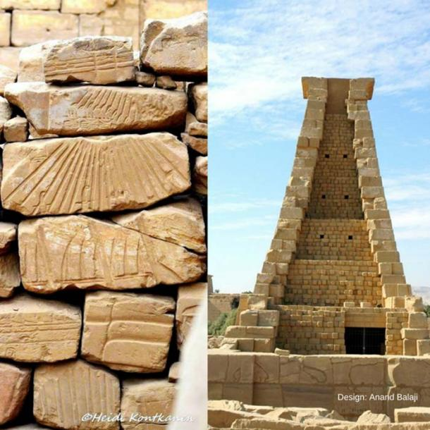 Thousands of Talatat lie in the precincts of Karnak Temple today. It will take a Herculean effort to piece together this massive Amarna-era jigsaw puzzle. However, we have learned much from many assembled blocks. (Right) The Ninth Pylon built by King Horemheb using Talatat blocks from Akhenaten's structures as fill. (Photo: Francesco Gasparetti / CC by SA 2.0)