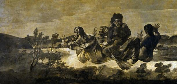 The Three Fates as depicted by Francisco de Goya