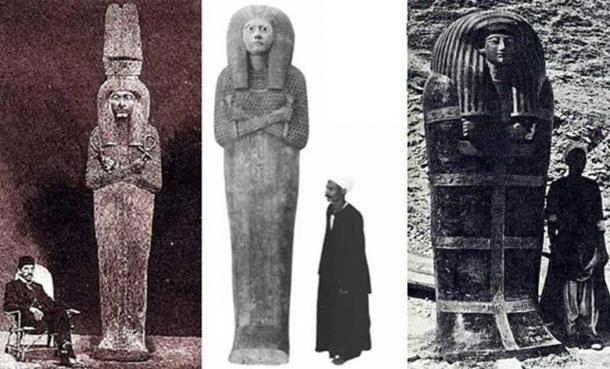 Three examples of massive coffins from ancient Egypt. Courtesy Muhammad Abdo