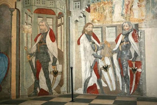 Three great masters were buried in the cathedral Kwidzyn - Werner von Orseln, Ludolf von Konig Wattzau, Heinrich von Plauen.