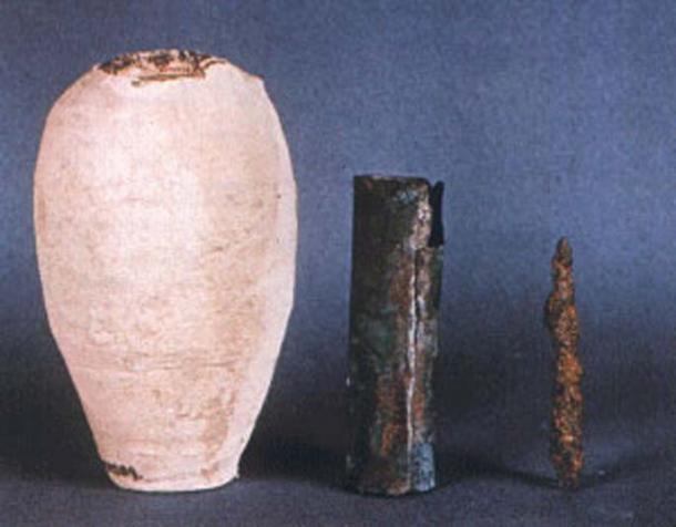 Three pieces of the Baghdad Battery.
