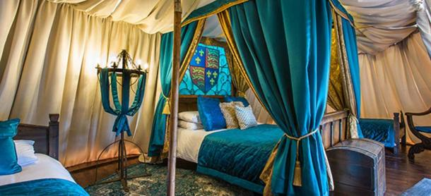 Throughout the summer, guests can camp like a medieval king in the tents on the Avenue of Kings at Warwick Castle. (Warwick-castle.com)