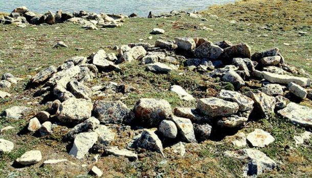 Thule archaeological site located in Cambridge Bay, Victoria Island, Canada.
