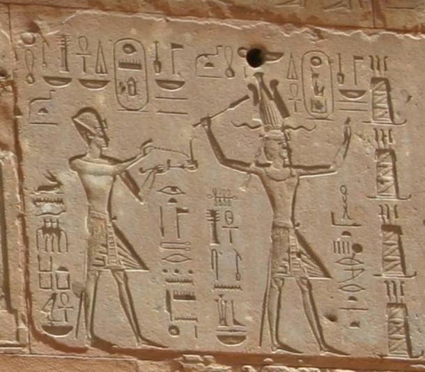Tutmosis III y Hatshepsut, 18va Dinastía.  Capilla Roja, Karnak.