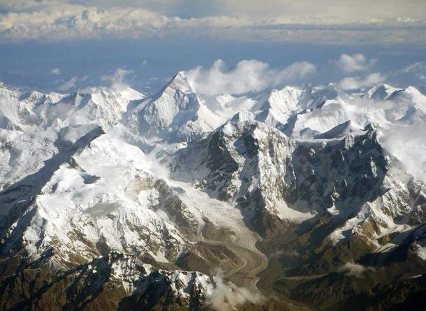 A section of the Tian Shan mountain range.