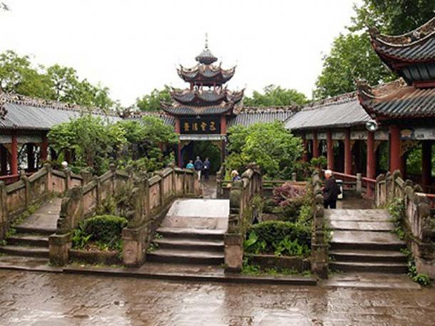 Tianzi Palace, Fengdu, China.