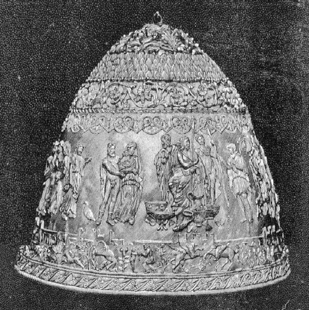 "The Tiara of Saitaphernes as published in the ""La Nature"" journal in 1896 AD."