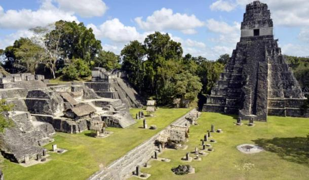 The scale of the pyramid at Tonina is comparable in size only to the great Maya cities of Guatemala, such as Tikal. Pictured here, the central acropolis at Tikal.