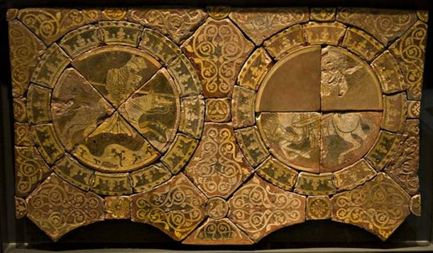 Tiles depicting Richard I of England and Saladin, now in the British Museum.