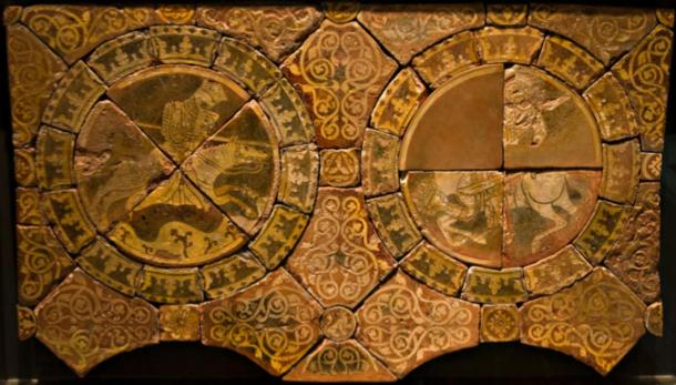 Tiles of Richard the Lionheart, left and Saladin, right. (Ealdgyth / CC BY-SA 3.0)