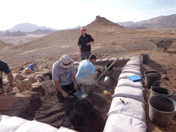 Tel Aviv University's Timna excavation team at work.