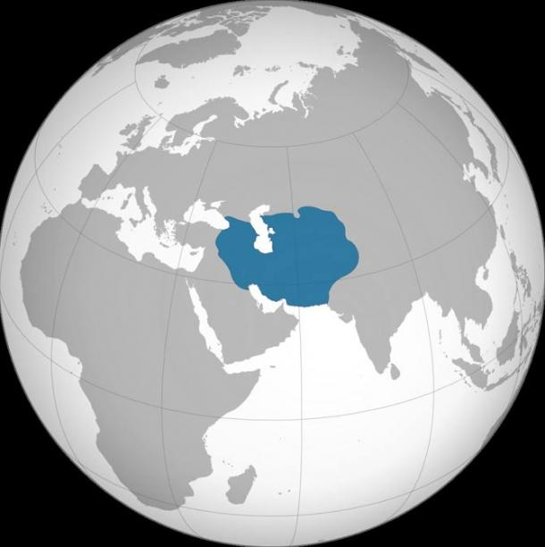 Timurid Empire map around the year 1400