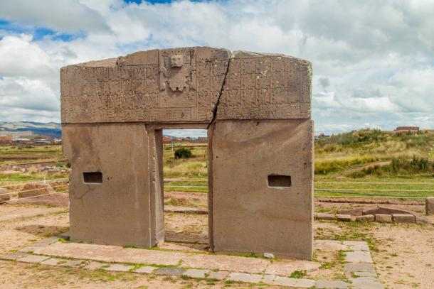 Sun Gate at Tiwanaku, Bolivia. (Matyas Rehak /Adobe Stock)