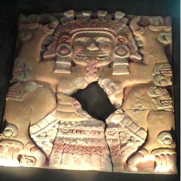 Tlaltecuhtli stone found in 2006, Templo Mayor, Mexico