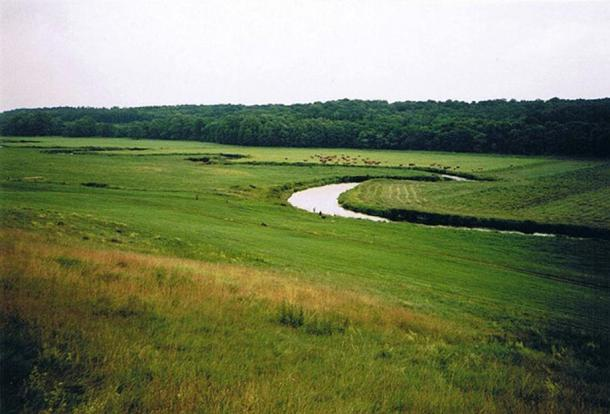 The Tollense River near the village Weltzin.