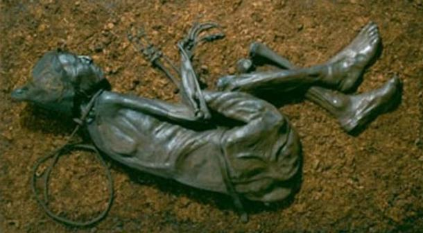 The Tollund Man as he appears today.