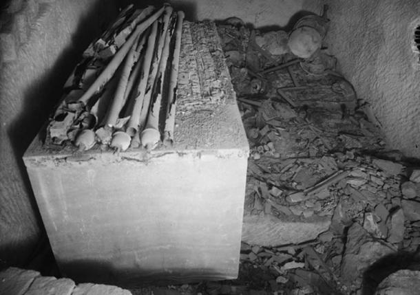 Giza, Tomb G7000X of Hetepheres I, burial chamber, looking south.