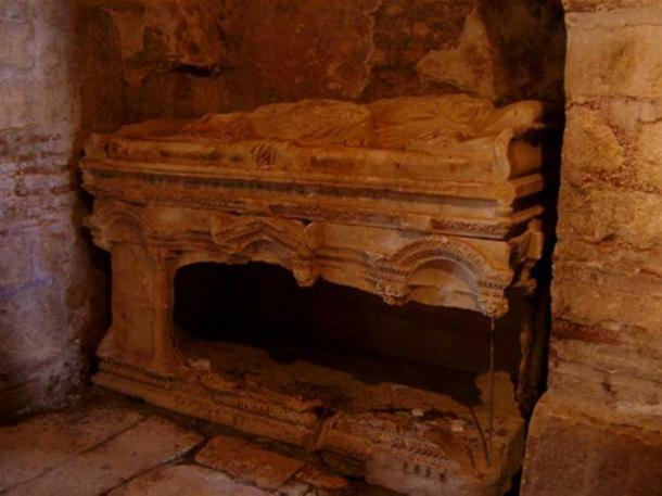 Tomb in Saint Nicholas Church, Demre, that once housed remains previously believed to be Saint Nicholas.