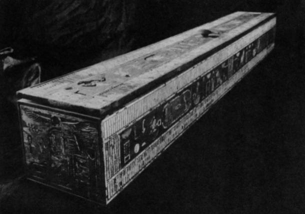 Giza necropolis. Tomb of Hetepheres I. The curtain box as restored in the Cairo Museum.