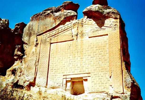 """The """"Tomb of Midas"""": an ancient tomb that was found in the 1950s near Gordium, former capital of the kingdom of Phrygia."""