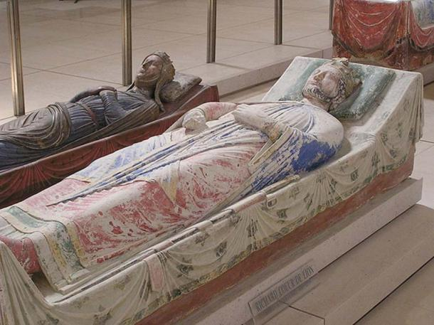 Tomb of Richard I of England at Fontevraud Abbey near Chinon, in Anjou, France.
