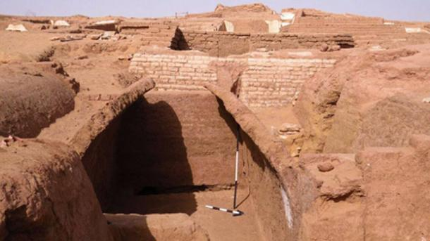 Tombs at the Beir Al-Shaghala site, Egypt.