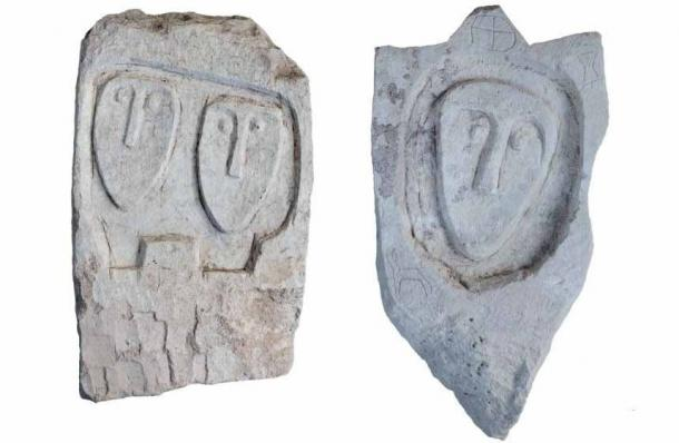"Two more of the ""unique"" tombstones found at the Crimean Scythian necropolis. (Russian Institute of Archaeology RAS)"