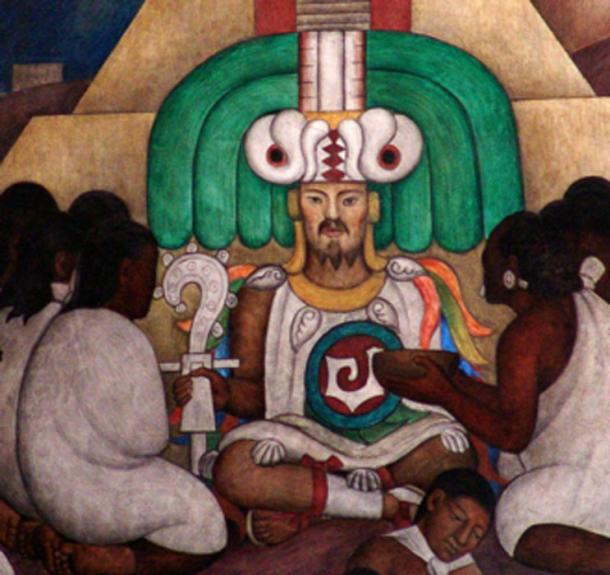 Topiltzin Quetzalcoatl, a Toltec priest-king, depicted in a mural in Mexico City. (O.Mustafin / Public Domain)