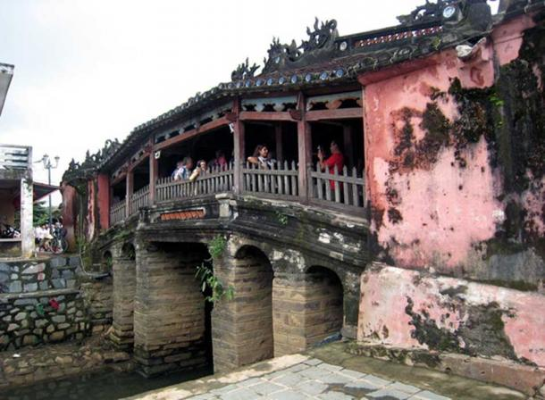 Tourists on the Japanese Bridge in Hoi An. Suree Pritchard/AAP