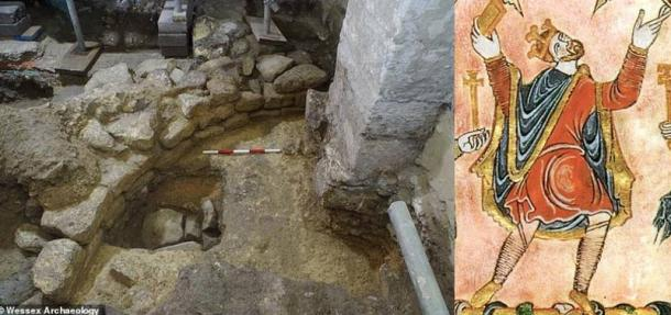 Traces of the Anglo-Saxon abbey were found during renovation work at Bath Abbey