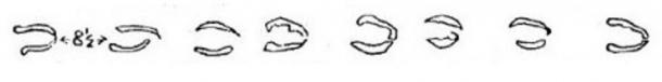 """Tracing of the """"Devil's Hoofmarks,"""" included in the papers collected by Reverend H.T. Ellacombe, who was vicar of the parish of Clyst St. George in Devon, England, from 1850 to 1885."""