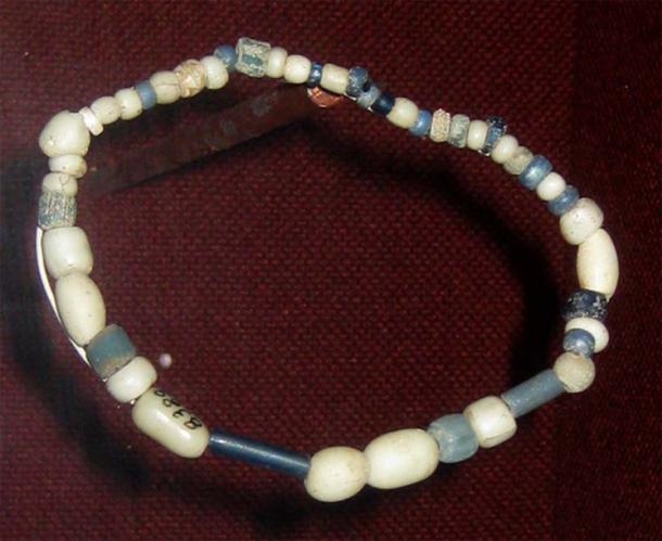 Trade beads dated from circa 1740 found by archaeologists in a Wichita Village site along the Arkansas River in north-central Oklahoma, collection of the Oklahoma History Center.