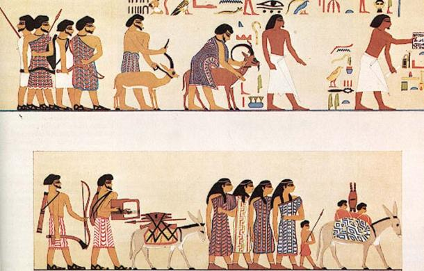 Trade in ancient Egypt.