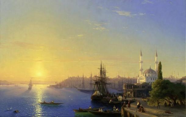 Trade along the Bosporus (1872) (CCO)