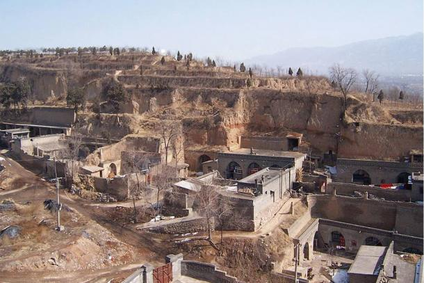 Traditional Yaodong cave houses in Shanxi, China
