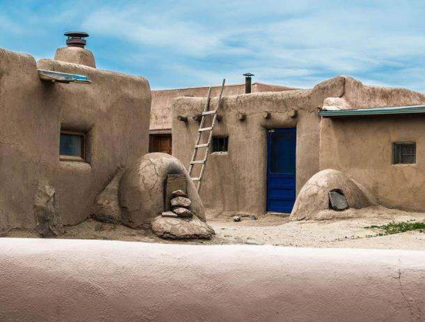 Traditional architecture at Taos Pueblo.