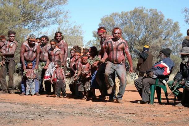 Traditional custodians celebrate the Birriliburu determination in 2008. Jo McDonald, Author provided.