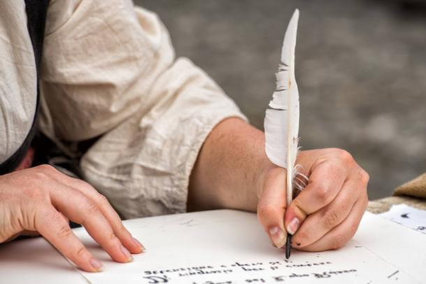 Traditional historical medieval writing was done with a quill, the instrument used by the Tremulous Hand of Worcester (Andrea Izzotti / Adobe)